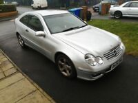 Very low mileage excellent Mercedes C180, auto, silver colour for sale