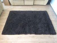 Ikea brown high pile rug