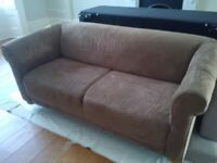 large brown sofa very good condition can deliver