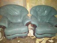 Two Leather Armchairs for free