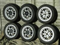 SUPERB SET OF USED FORD ALLOY WHEELS & TYRES FROM MONDEO SUIT FIESTA UP TO MK.8.