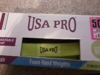 USA PRO adjustable strap hand weights for women.