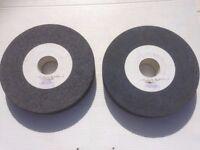 Grinding wheels x 2 -
