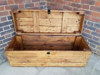 Large rustic trunk coffee table/storage chest. NEW Handcrafted/reclaimed wood. LOCAL DELIVERY.