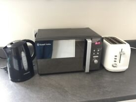 Used Geroge Toaster, Cookworks Kettle and Rusell Hobbs Microwave for Sale.