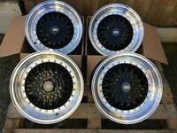 "Brand new 15"" BBS RS style alloy wheels 4x100 MINI VW vaxuhall Honda"