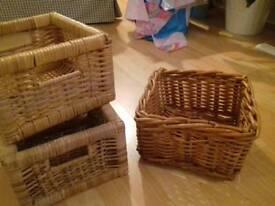 Ikea wicker baskets