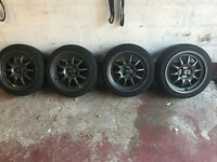 "rota gt3 4x100 16"" 7j et40 with tyres alloys honda civic ek4 ej9 vti"