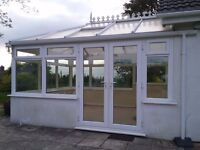 UPVC conservatory, dismantled ready for collection