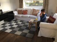 3 seater IKEA ektorp white sofa suite