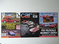 Vintage editions of CAR Magazine from 1992. 3 issues.