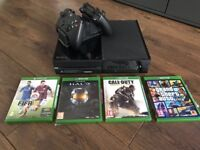 Xbox one, charging station , 2 x controls and games
