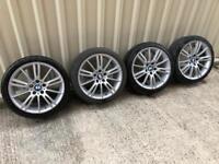 "Genuine BMW MV3 staggered 18"" alloys 5x120"