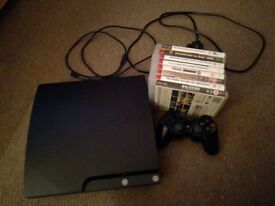 Ps3 slimline console with controller and games