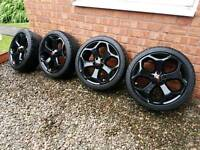 "Ford Focus ST alloy wheels 18"" 5x108"