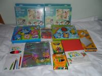 A bundle of childrens arts and crafts kit