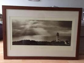 LARGE Sepia Brown coloured Picture wood Frame