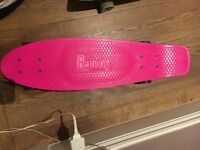 Mint condition, barely used, Penny Board Classic Pink with purple wheels