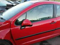2007 PEUGEOT 207 URBAN 1.4HDI RED PASSENGER SIDE LEFT FRONT WING MIRROR **POSTAGE AVAILABLE**