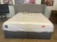 SUPER KING SIZE OTTOMAN BEDBASE WITH MATTRESS AND HEADBOARD