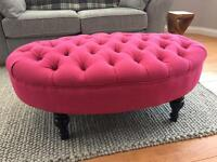 Large Buttoned Classic Footstool
