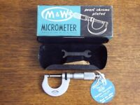 M & W ( SHEFFIELD ) MICROMETER IN NEW CONDITION .