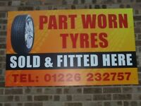 "Part Worn Tyres - Birdwell Barnsley all sizes £15 Fitted All Sizes Available (13"" to 22"")"