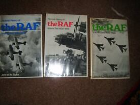 Pictorial History of the RAF - 3 volumes - 1918-1969 - Taylor & Moyes