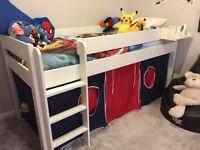 Stompa Midsleeper White Children's Bed