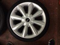 "18"" Mini Cooper alloys with like new run flat tyres"