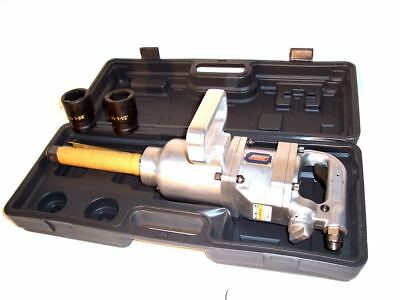"1"" Inch Drive Air Impact Wrench Tool Gun 1in dr Long Shank 2 Sockets 1900 lb HD"