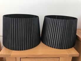 Two black lampshades
