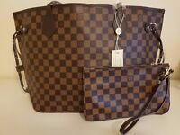 New Style Large Brown Louis Vuitton Bags PLUS Clutch Purse