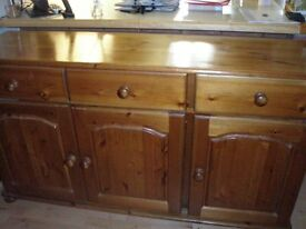 Custom Made Pine Sideboard.