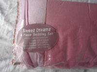 Sweet Dreams Pink Bedding set in as new condition.