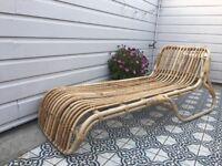 Bamboo sun lounger