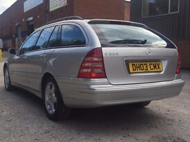 2003 MERCEDES C220 DIESEL ESTATE AUTOMATIC - BLACK LEAHTER - LONG MOT ** PX WELCOME *