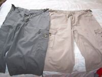 Two pairs of mens cargo shorts