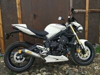 2008 Triumph Street Triple only 2600miles from new lots of extras