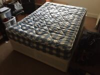 Double bed frame with mattress for sale - 40£