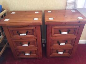 Dressing table, x2 bedside tables (Matching Set), Stool, Solid wood.