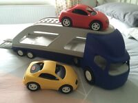 Little Tikes Transporter & 2 Sports Cars