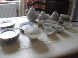 ANTIQUE ORIENTAL TEASET WITH PLATES EGGSHELL STYLE VERY DELICATE