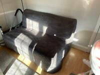 Grey full size double pull out sofa bed (ikea)