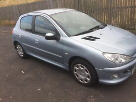 £30 ROAD TAX YEAR DIESEL PEUGEOT 206 2005 5DR FULL YEAR MOT EXCELLENT CONDITION