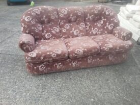 nice brown material sofa