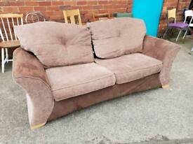 Brown fabric contrasting sofa