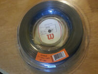 New Wilson Rip spin 15/1.35mm / 660ft (200m) Black Tennis String Reel- RRP: £140