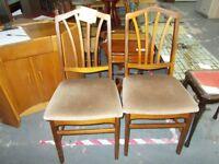 2 x Teak Chairs…WF1882