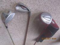 A set of mixed Golf clubs
